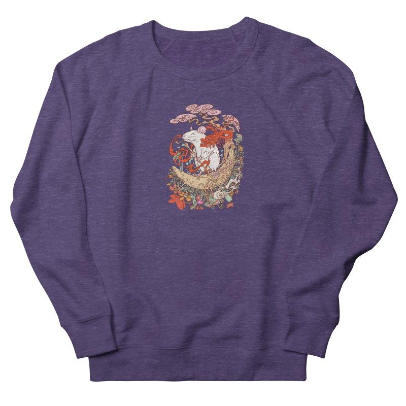 The king of rat Women's French Terry Sweatshirt by makapa's Artist Shop