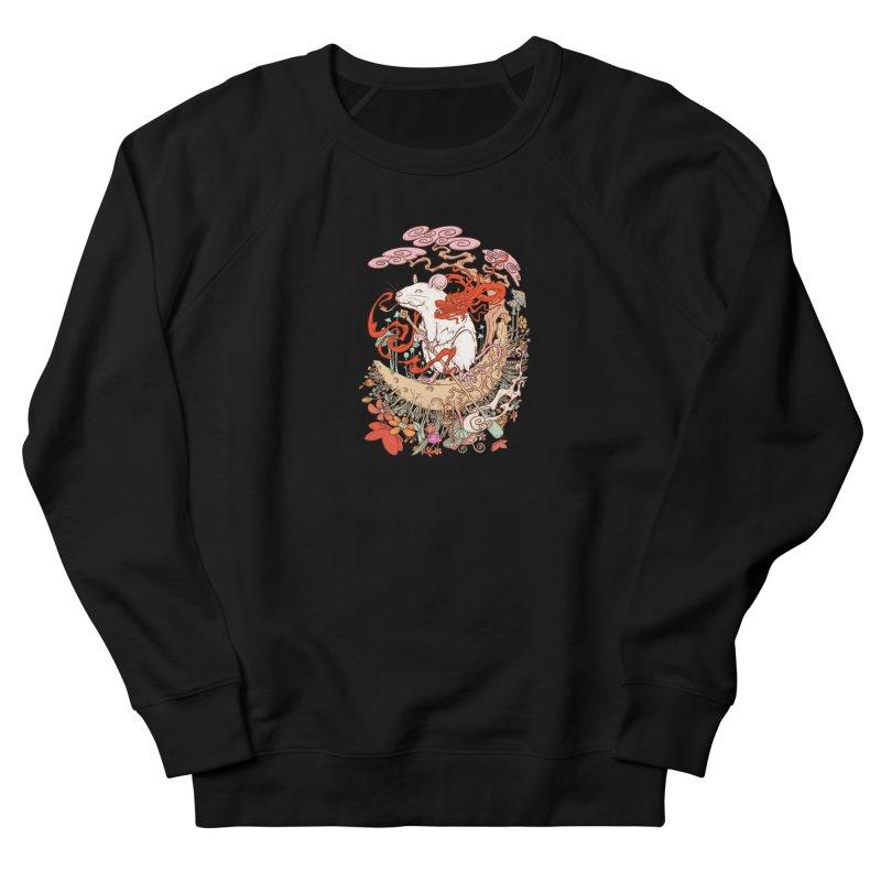 The king of rat Men's French Terry Sweatshirt by makapa's Artist Shop
