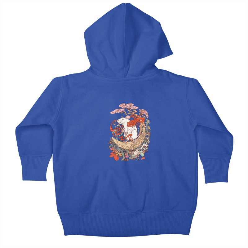 The king of rat Kids Baby Zip-Up Hoody by makapa's Artist Shop