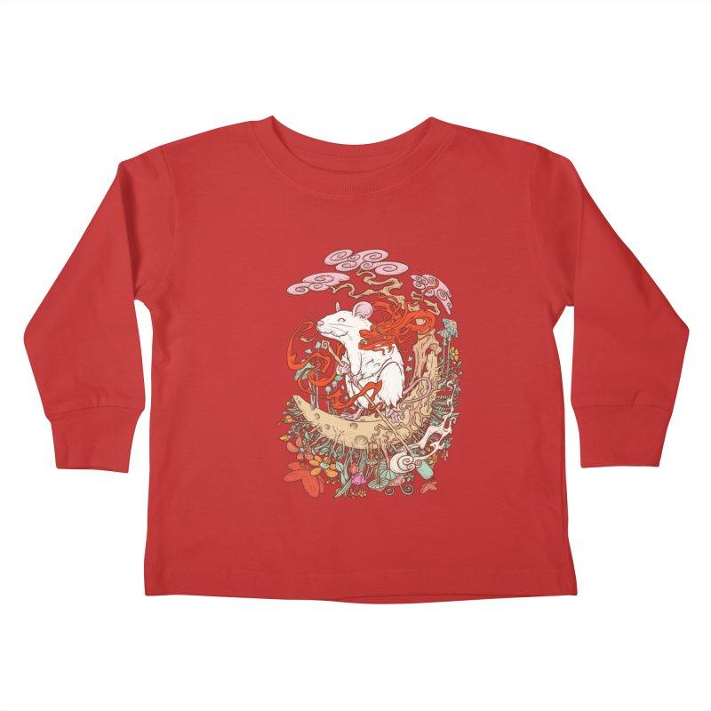 The king of rat Kids Toddler Longsleeve T-Shirt by makapa's Artist Shop