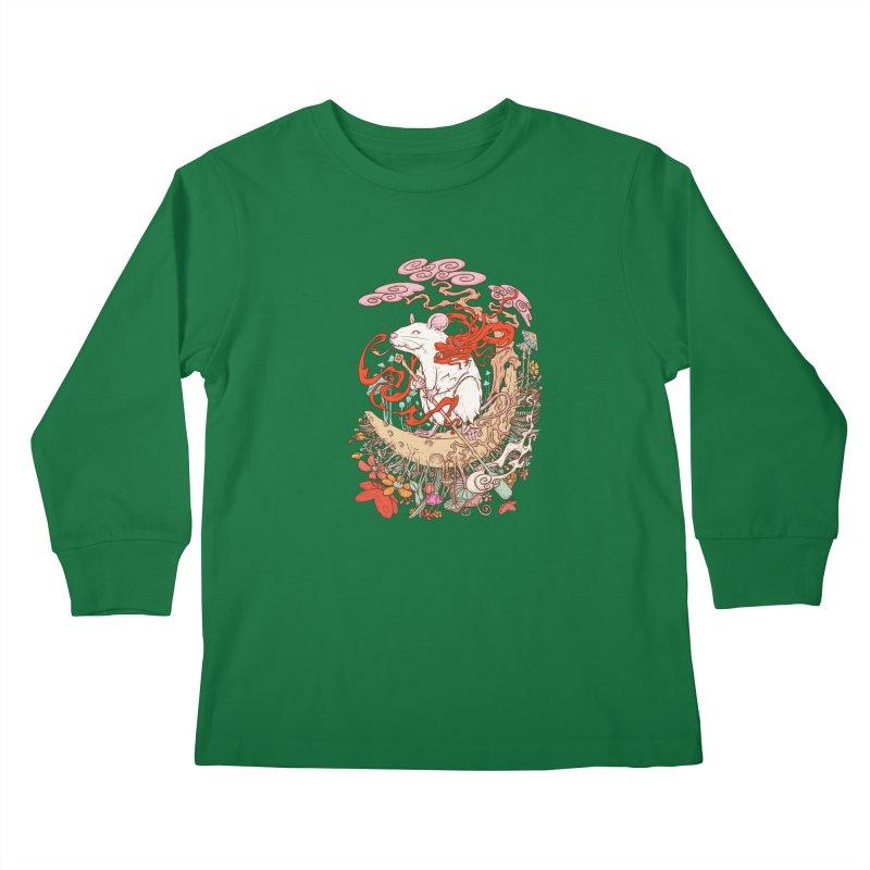 The king of rat Kids Longsleeve T-Shirt by makapa's Artist Shop