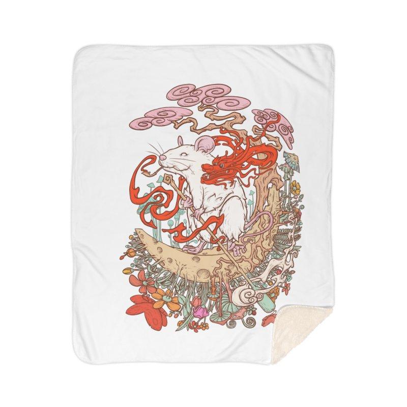 The king of rat Home Sherpa Blanket Blanket by makapa's Artist Shop