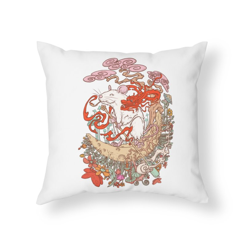 The king of rat Home Throw Pillow by makapa's Artist Shop