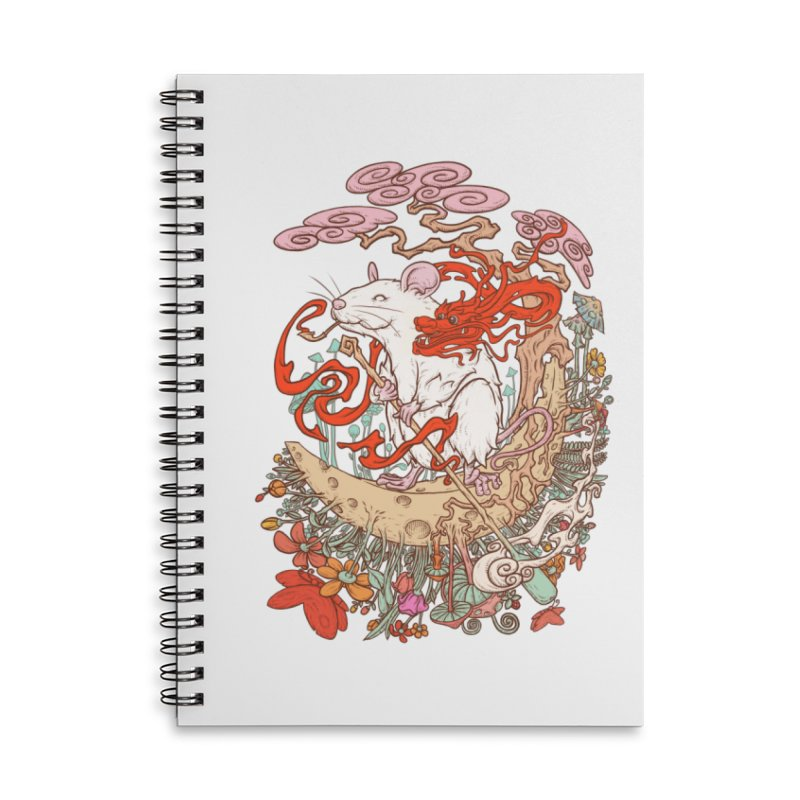 The king of rat Accessories Lined Spiral Notebook by makapa's Artist Shop