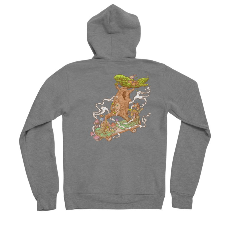 The wood holiday Men's Sponge Fleece Zip-Up Hoody by makapa's Artist Shop