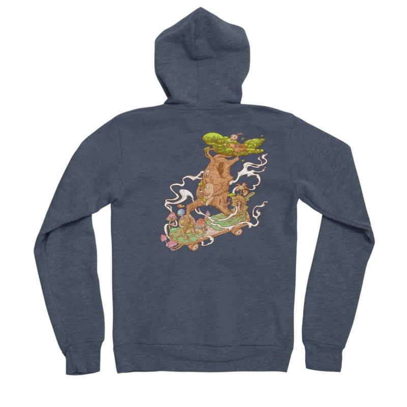 The wood holiday Women's Sponge Fleece Zip-Up Hoody by makapa's Artist Shop