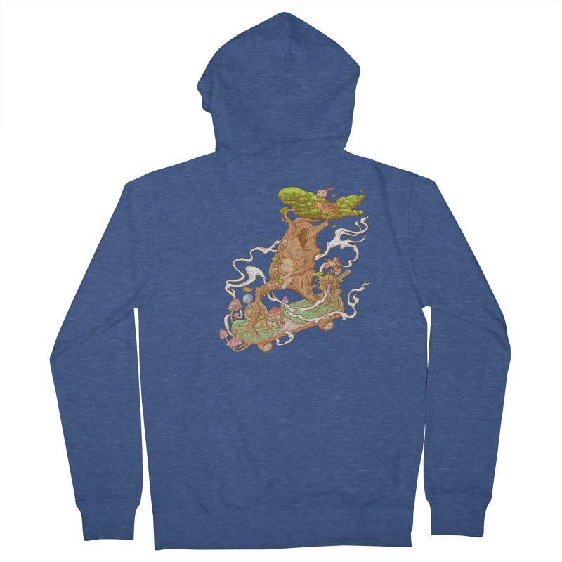The wood holiday Women's French Terry Zip-Up Hoody by makapa's Artist Shop