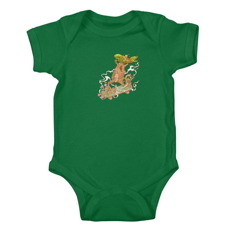 The wood holiday Kids Baby Bodysuit by makapa's Artist Shop