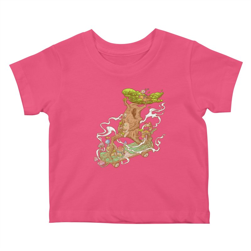 The wood holiday Kids Baby T-Shirt by makapa's Artist Shop