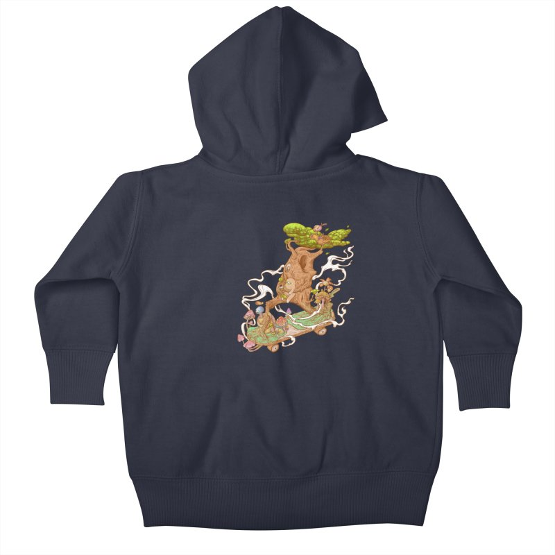 The wood holiday Kids Baby Zip-Up Hoody by makapa's Artist Shop