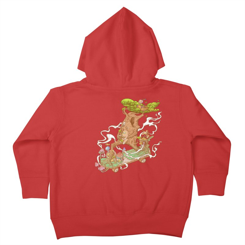 The wood holiday Kids Toddler Zip-Up Hoody by makapa's Artist Shop