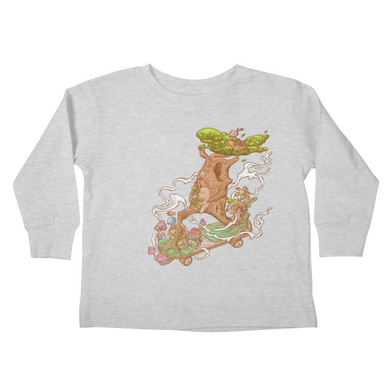 The wood holiday Kids Toddler Longsleeve T-Shirt by makapa's Artist Shop