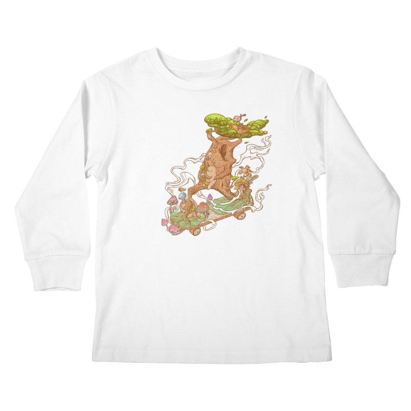 The wood holiday Kids Longsleeve T-Shirt by makapa's Artist Shop