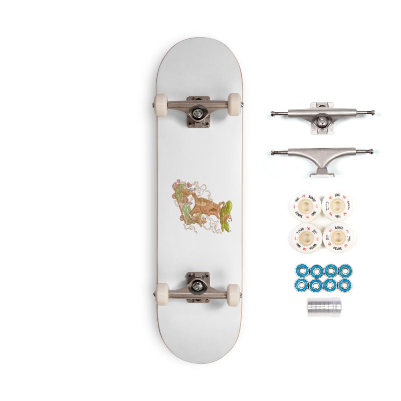 The wood holiday Accessories Complete - Premium Skateboard by makapa's Artist Shop