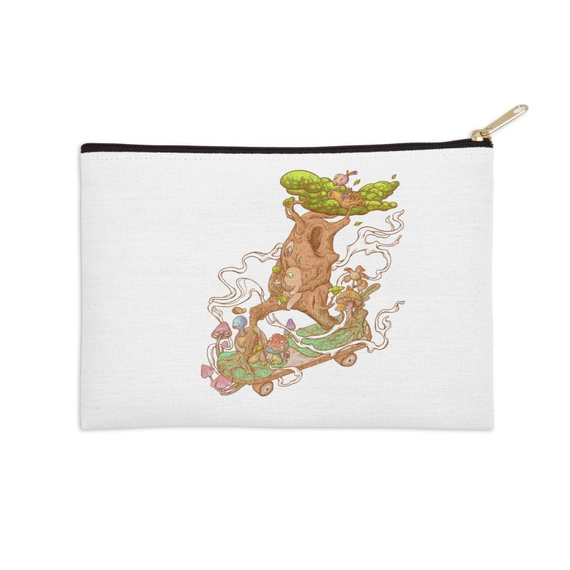 The wood holiday Accessories Zip Pouch by makapa's Artist Shop