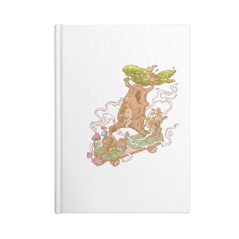 The wood holiday Accessories Lined Journal Notebook by makapa's Artist Shop