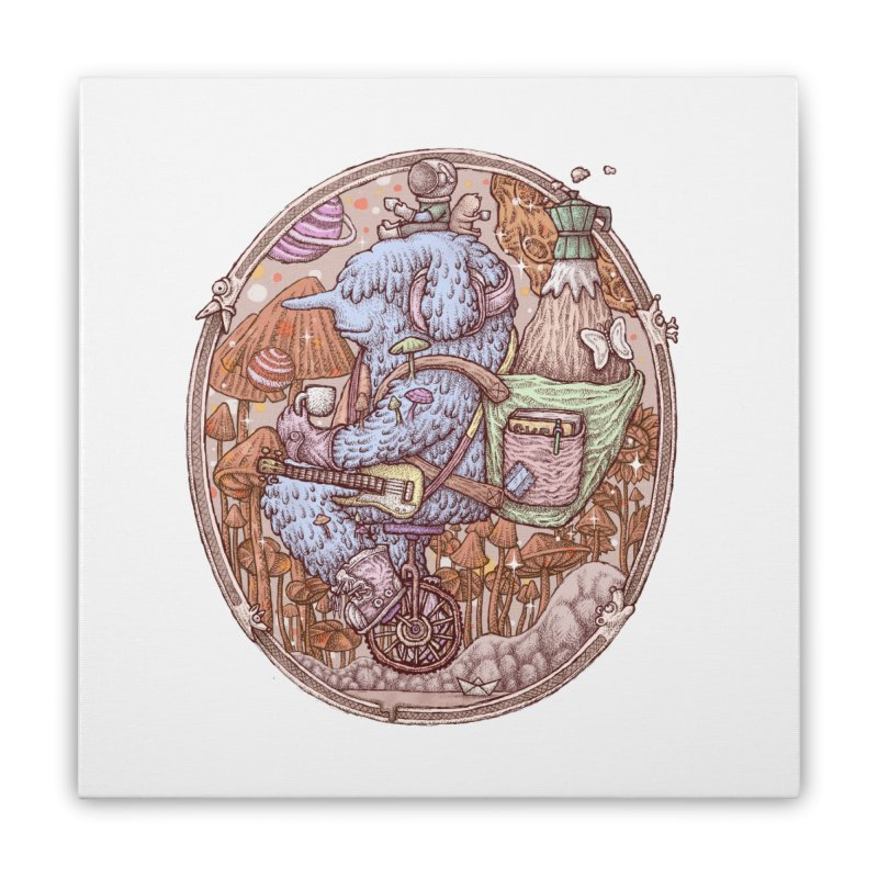 Caffriendine Home Stretched Canvas by makapa's Artist Shop