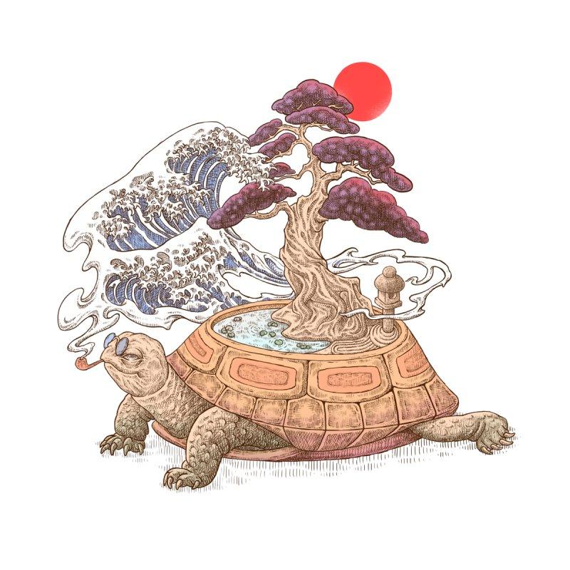 Turtle garden Men's T-Shirt by makapa's Artist Shop