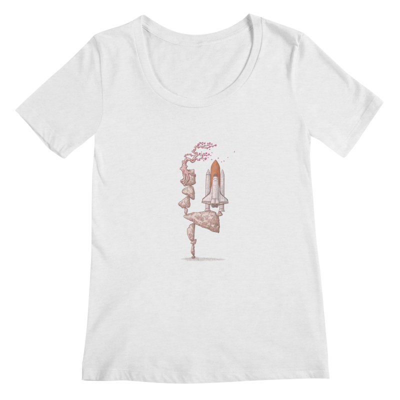 Zen gravity Women's Scoop Neck by makapa's Artist Shop