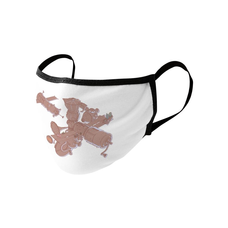 Coffee space station Accessories Face Mask by makapa's Artist Shop