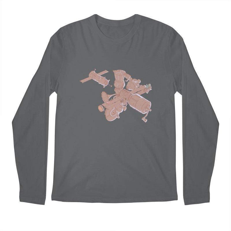 Coffee space station Men's Longsleeve T-Shirt by makapa's Artist Shop