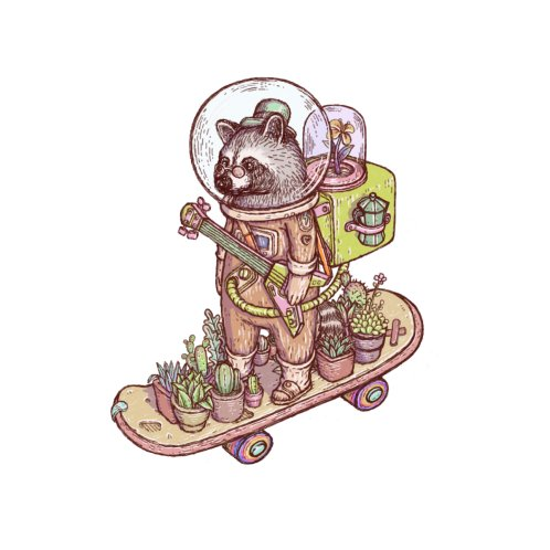 Design for Raccoon space suits