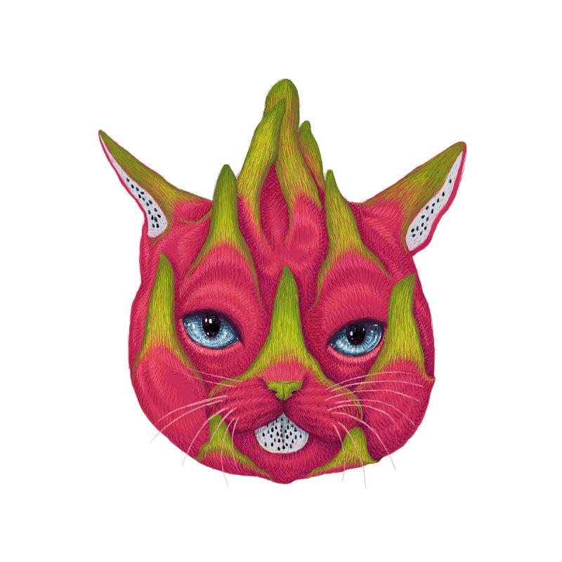 Dragon fruit cat Women's Pullover Hoody by makapa's Artist Shop