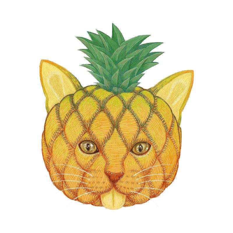 Pineapple cat Women's Scoop Neck by makapa's Artist Shop