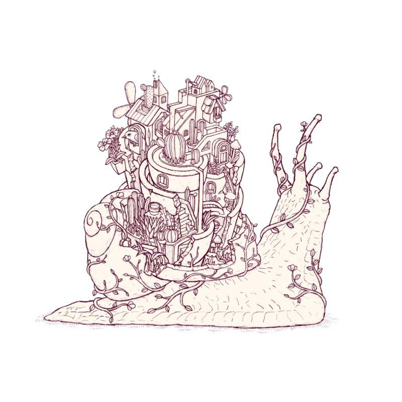Slow happy garden drawing Men's T-Shirt by makapa's Artist Shop