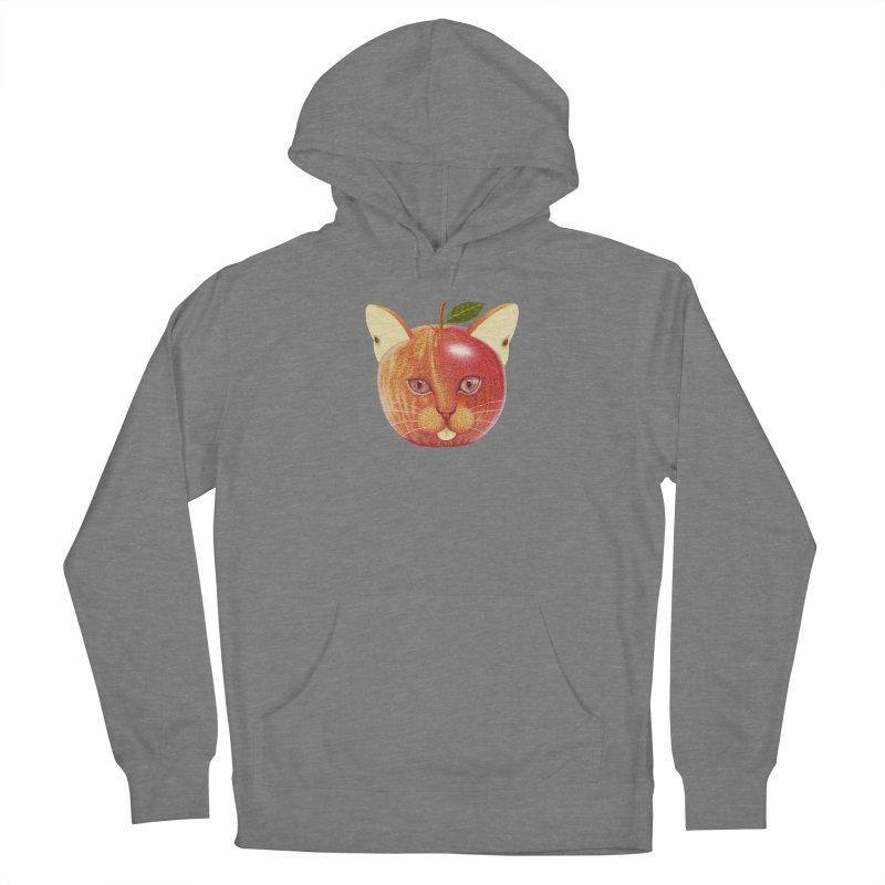 Apple cat Women's Pullover Hoody by makapa's Artist Shop