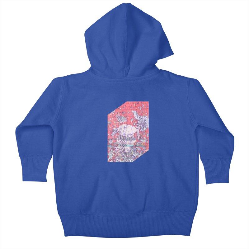 god attack Kids Baby Zip-Up Hoody by makapa's Artist Shop