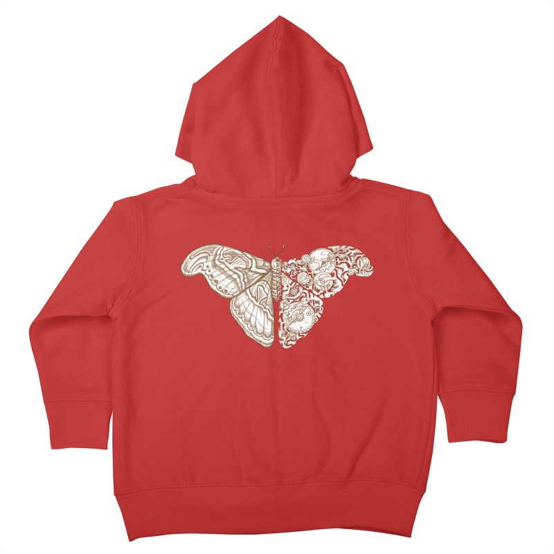 Moth sci-fi 02 Kids Toddler Zip-Up Hoody by makapa's Artist Shop