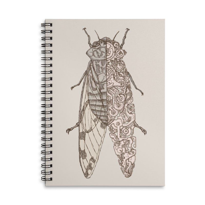 cicada sci-fi 02 Accessories Notebook by makapa's Artist Shop