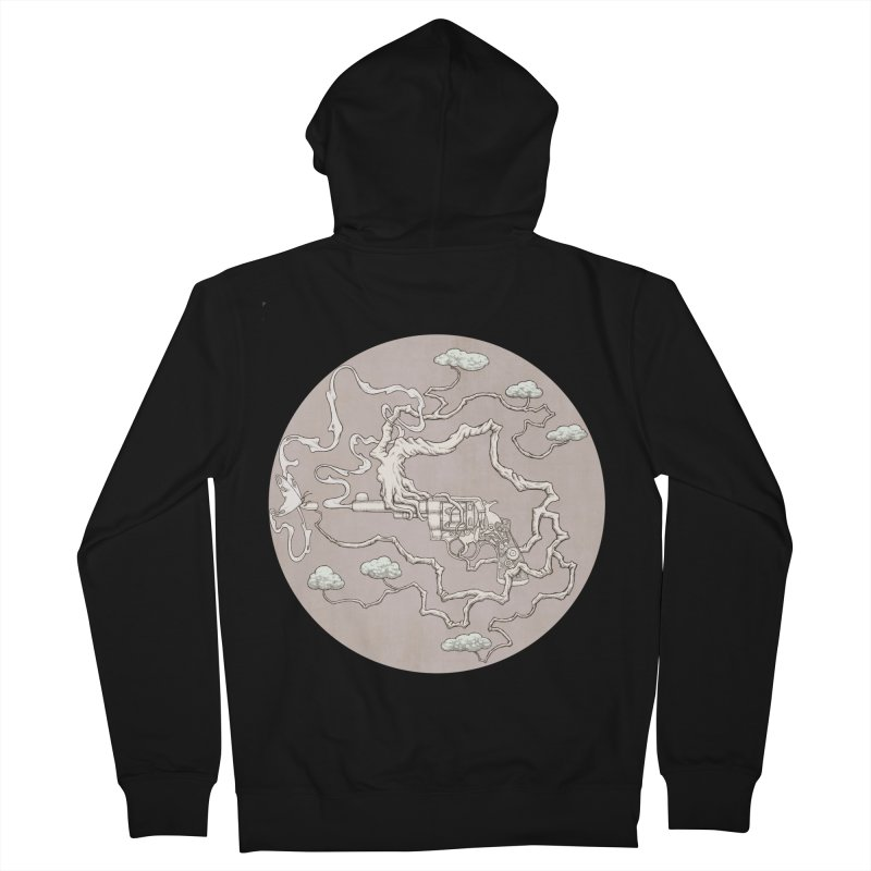 slow gun Men's Zip-Up Hoody by makapa's Artist Shop