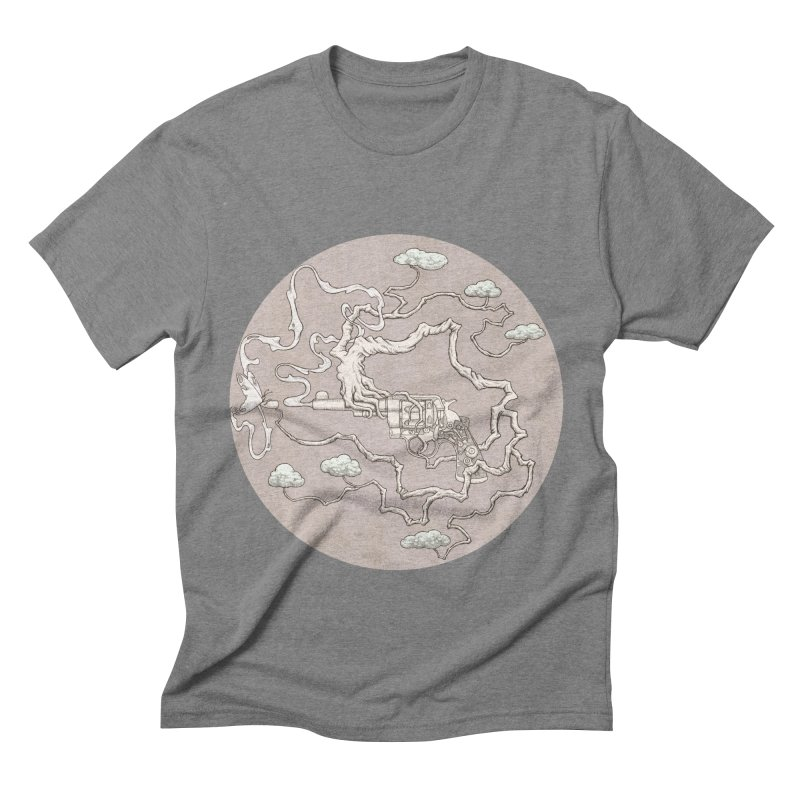 slow gun Men's Triblend T-Shirt by makapa's Artist Shop