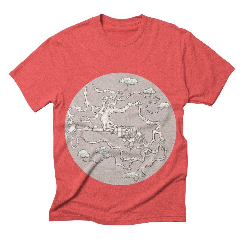 slow gun Men's Triblend T-shirt by makapa's Artist Shop