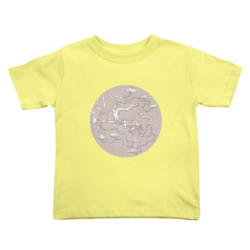 slow gun Kids Toddler T-Shirt by makapa's Artist Shop