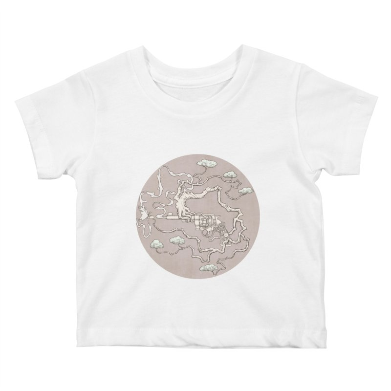 slow gun Kids Baby T-Shirt by makapa's Artist Shop