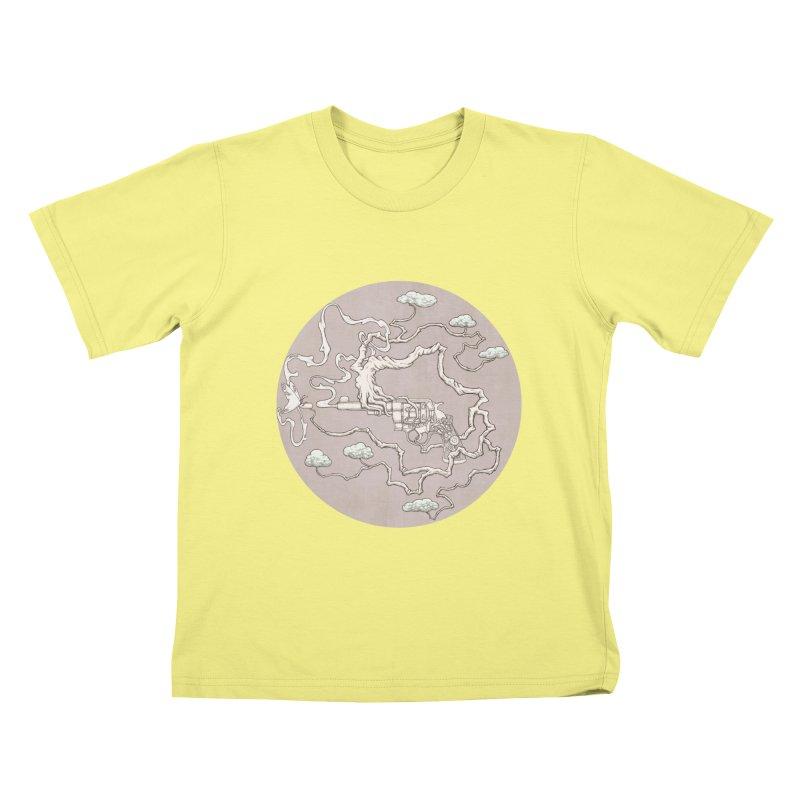 slow gun Kids T-shirt by makapa's Artist Shop