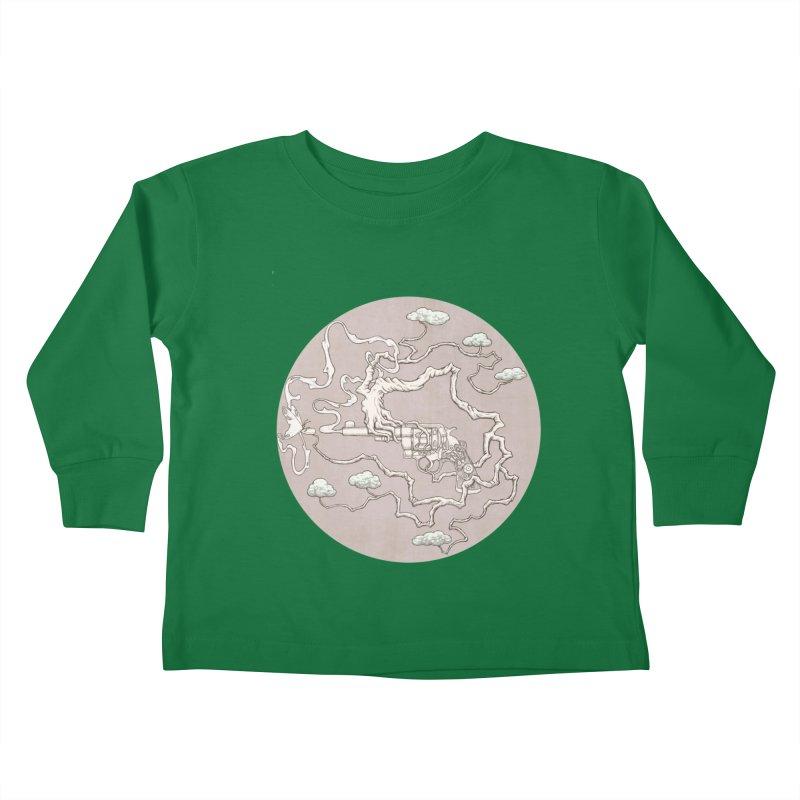 slow gun Kids Toddler Longsleeve T-Shirt by makapa's Artist Shop