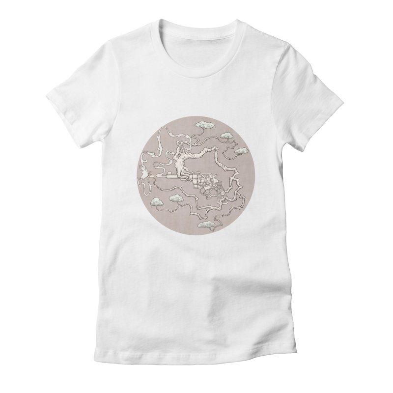 slow gun Women's Fitted T-Shirt by makapa's Artist Shop