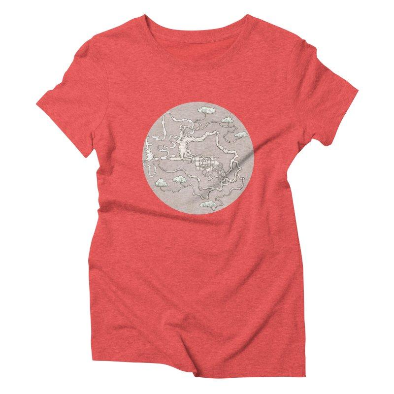 slow gun Women's Triblend T-shirt by makapa's Artist Shop