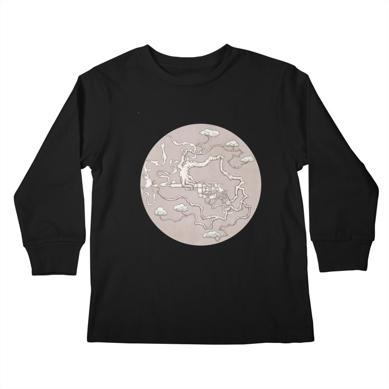slow gun Kids Longsleeve T-Shirt by makapa's Artist Shop