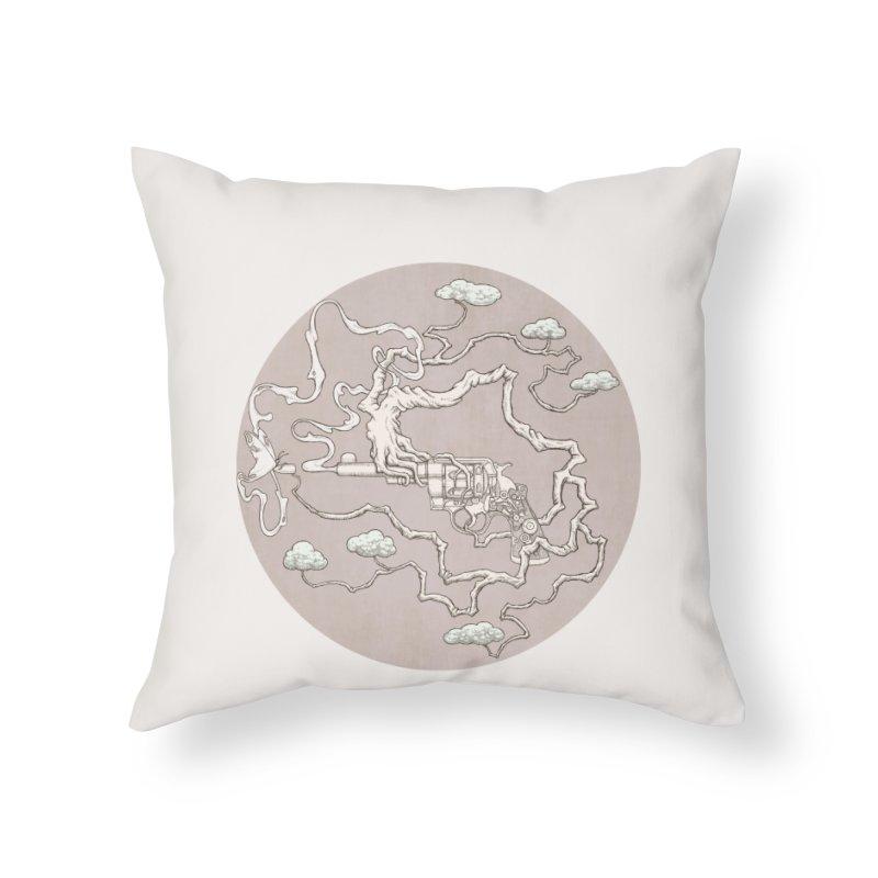 slow gun Home Throw Pillow by makapa's Artist Shop