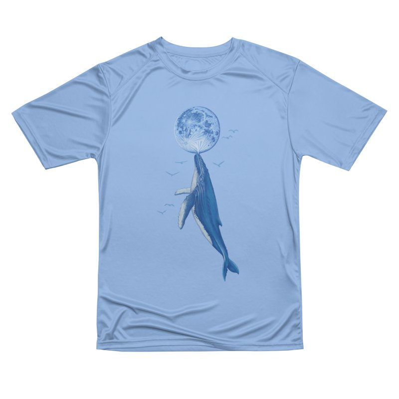 Blue surrealist Men's T-Shirt by makapa's Artist Shop