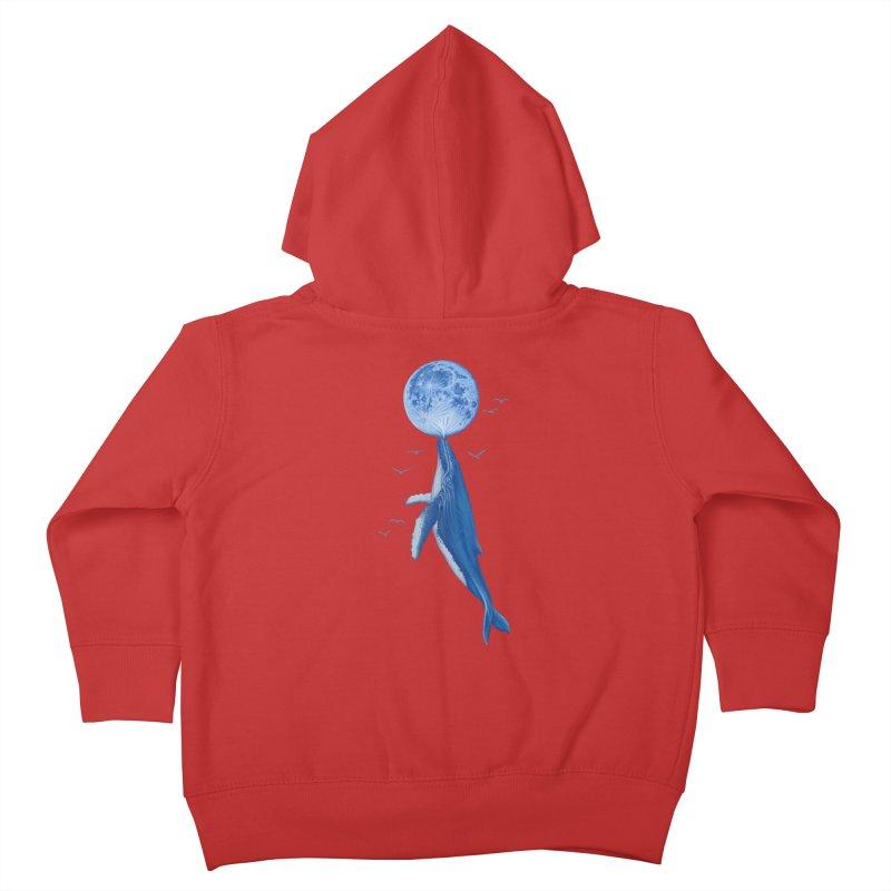 Blue surrealist Kids Toddler Zip-Up Hoody by makapa's Artist Shop
