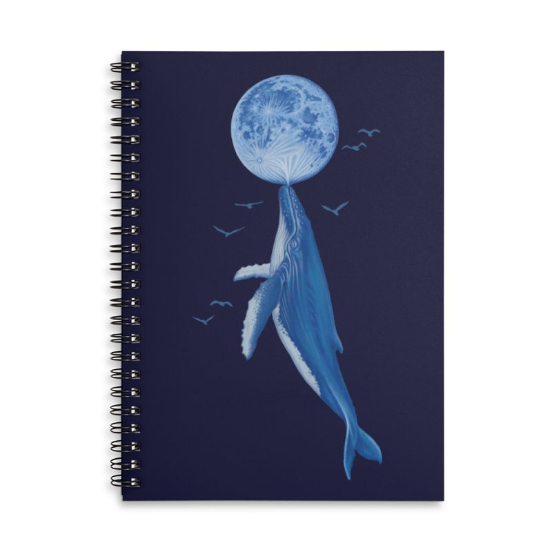 Blue surrealist Accessories Notebook by makapa's Artist Shop