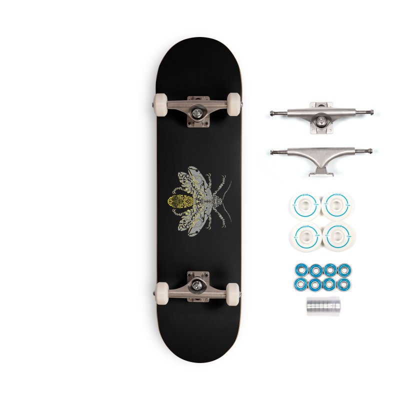 Sci-fi fire fly Accessories Skateboard by makapa's Artist Shop