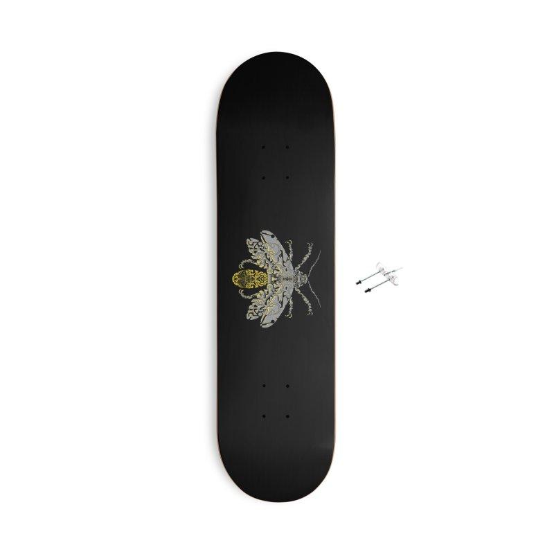Sci-fi fire fly Accessories Skateboard by makapa's Artist Shop