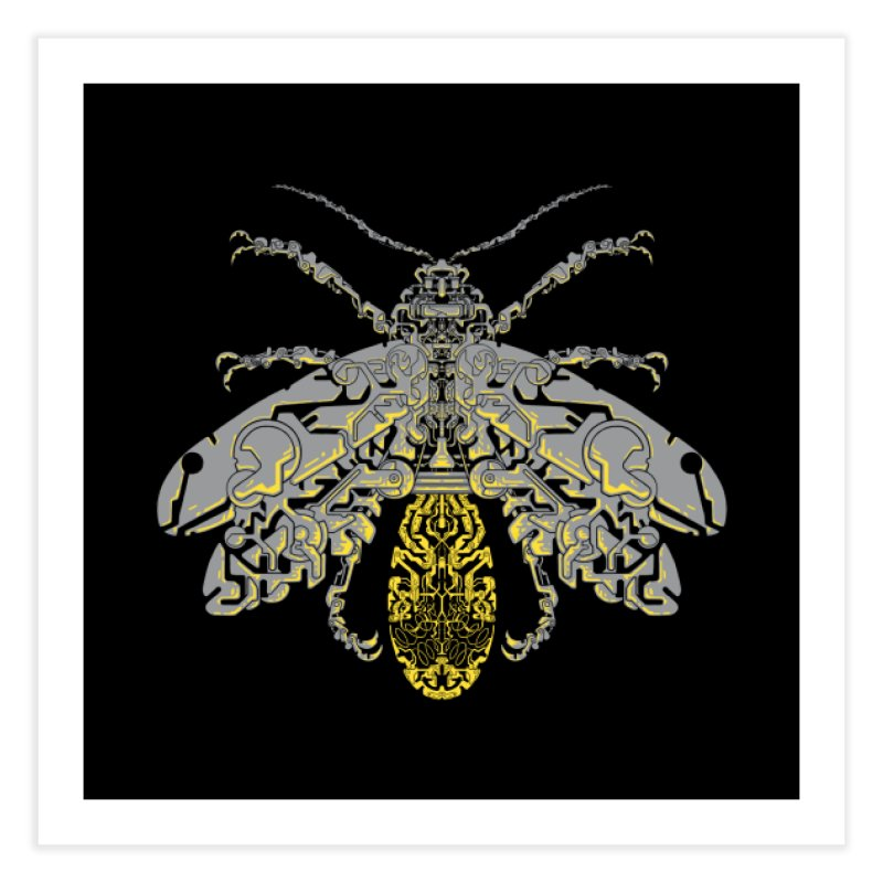 Sci-fi fire fly Home Fine Art Print by makapa's Artist Shop